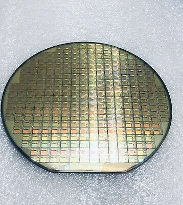 6 Silicon Wafer T.i. Tms320c209 100s Of Dies Vintage 1994