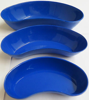 PLASTIC KIDNEY DISH / BOWL / TRAY SET OF 3  MEDICAL & BEAUTY BOWL - YNR