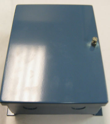 Gardner Blue Steel Enclosure With Back Panel 2.5 X 6 X 8 2 Knockouts