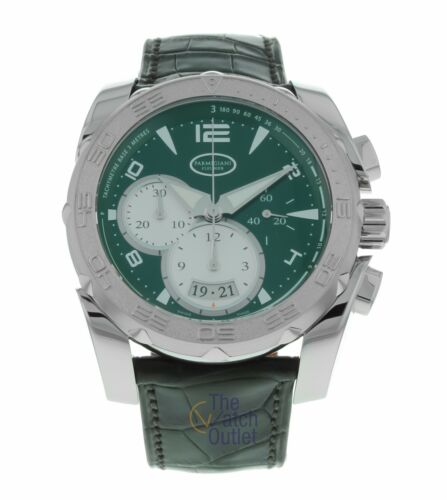 Parmigiani Fleurier Green Pershing 005 Steel & White Gold Men's Watch PFC528 - watch picture 1