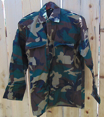 Croatian Military Woodland Camo Combat Jacket/Shirt Large/Reg., new, non-issued for sale  Shipping to India