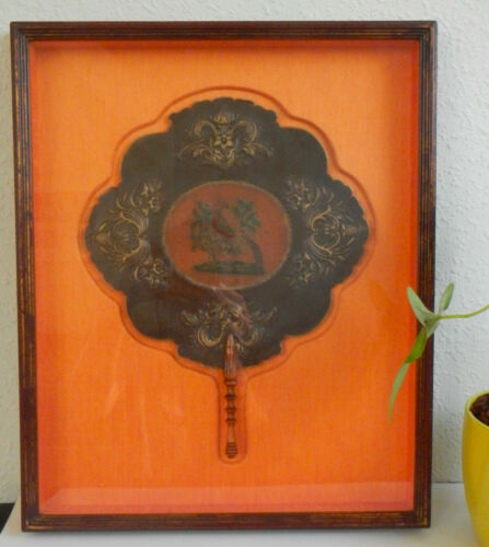 Hand Fan – Rigid Fan - Antique Chinese Fan - Screen Fan - Framed Chinese Fan