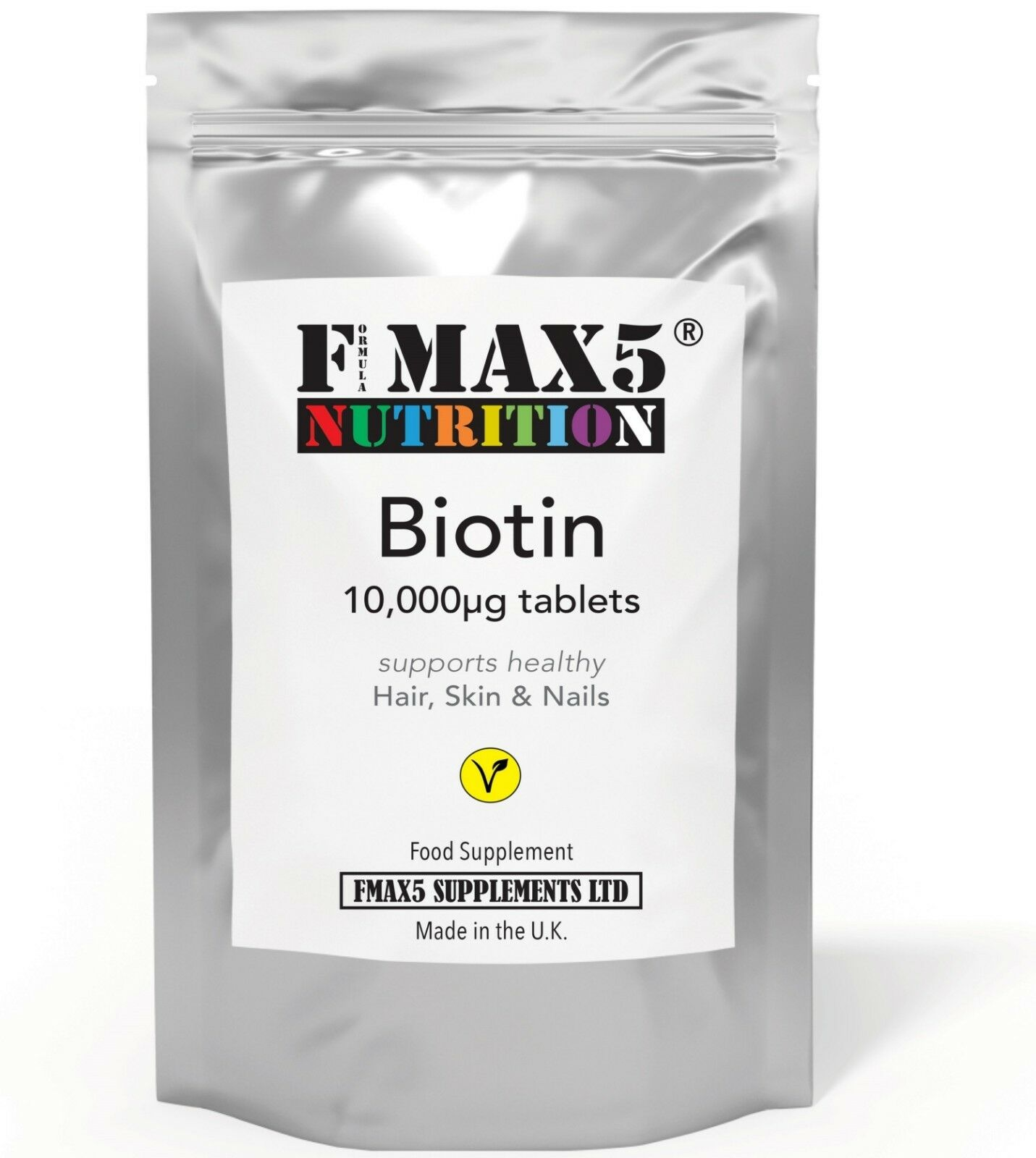 BIOTIN 10,000mcg Max Strength Healthy Hair Skin Nails Growth Vitamins B7 Tablets