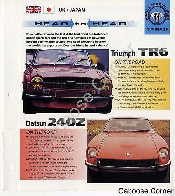 Head to Head Triumph TR6 Datsun 240Z IMP Brochure Specs Group 11, No 29