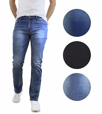 Mens Denim Jeans Straight Leg  Zip Closure 5 Pocket Design NWT ()
