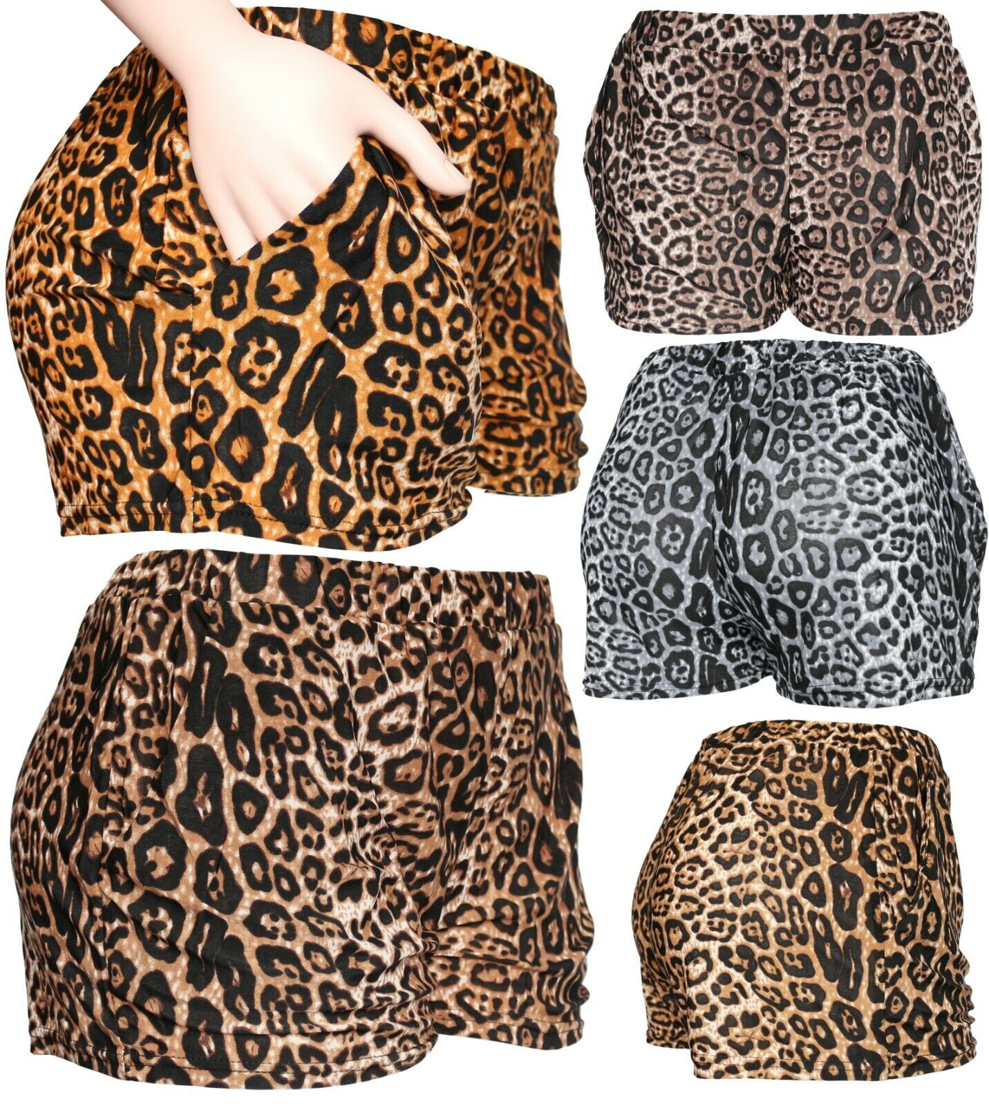 Womens/Juniors Fashion Summer Leopard Casual Shorts Pants Clothing, Shoes & Accessories