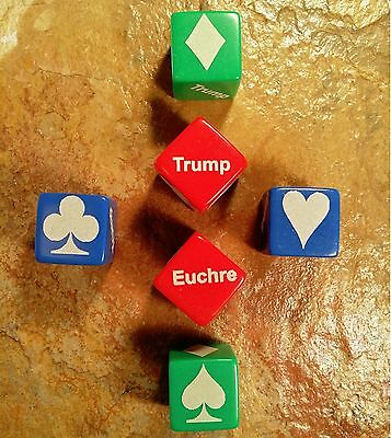 Qty 3   Euchre Trump Indicator Cubes Marker Laser Engraved Tournament Event Bulk