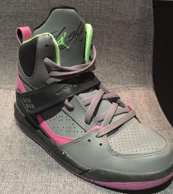 6192c3137e2 Nike Air Jordan Flight 45 Basketball Shoes Gray Pink Size 2 Youth ...