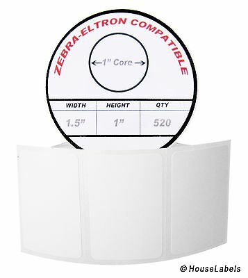 1 Roll 520 Labels Of 1.5x1 1-12 X 1 Direct Thermal Zebra Eltron Labels