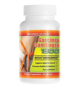 Garcinia Cambogia Extract 1000mg 60% HCA Weight Loss Potassium Calcium Diet Pill