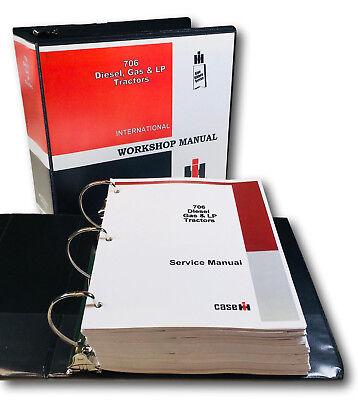 International 706 Diesel Gas Lp Tractor Service Manual Repair Shop Book Overhaul