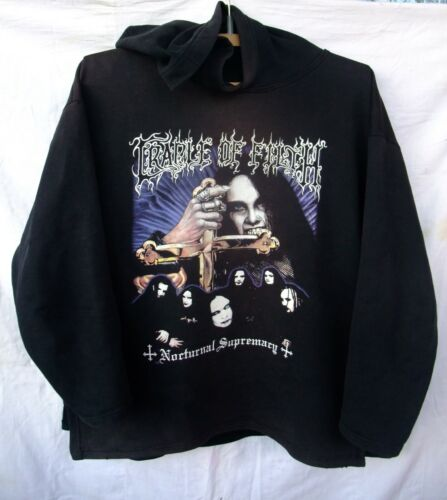 vtg hoodie Cradle of Filth Nocturnal Supremacy XL Dimmu Borgir Dissection
