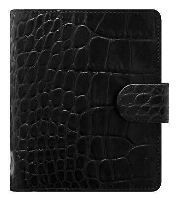 Filofax Classic Croc Print Leather Organizer Agenda Calendar With Diloro Jot ...