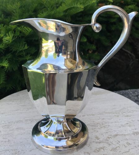 Stunning Vintage Sanborns Mexican Sterling Silver Large Water Pitcher 32.5 oz
