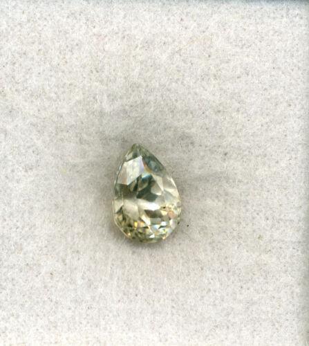 13.4x9.2mm DEEP CUT Pear Natural Lt Yellow Kunzite SPODUMENE – 7.52ctw