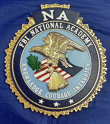 """FBI NA National Academy Full Color 3D Wall / Podium Seal 9"""" X 8"""" MADE IN USA"""