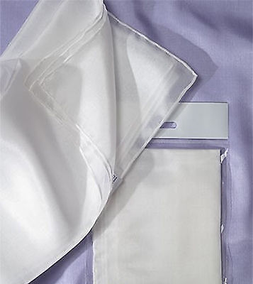 Natural White 'Ponge 5' Silk Scarf 180 x 45 - Nuno Felting, Silk Painting