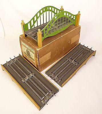LIONEL #101 PREWAR BRIDGE W/#104 APPROACH RAMPS FOR STD. GAUGE-EX W/ORIG. BOX!