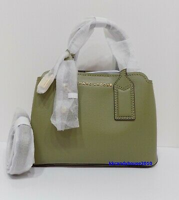 NWT Marc Jacobs The Editor Leather Carryall/Crossbody Bag ~ Moss ~M0014487