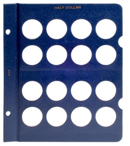 WHITMAN Blue Classic #9146 Blank Half Dollar Album Page