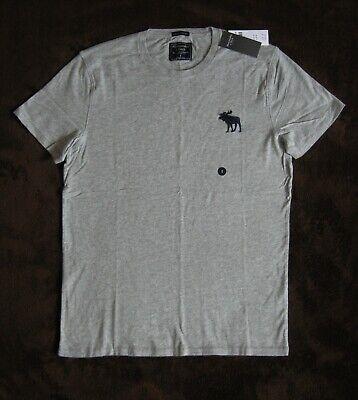NWT Mens Hollister  ABERCROMBIE Gray Crew T-Shirt S, M, LG, XL, XXL