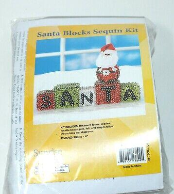 Sequin Kit Ornaments Crafts Christmas Santa Blocks Sequins Make Your Own Kit](Make Your Own Christmas Ornaments)
