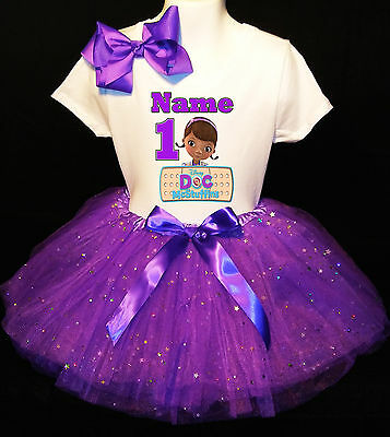 Doc McSTUFFINS *With NAME* 1st first 1 Birthday purple Tutu dress Fast Shipping - Doc Mcstuffins 1st Birthday Party