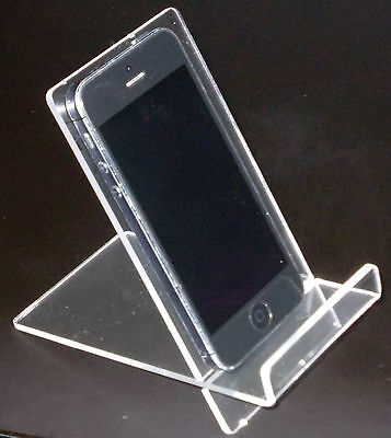 10 x iPhone 6, 5, 4 / Samsung / Sony Xperia Phone Holder / Stand with Lip Clear