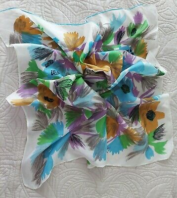 Vintage Scarf Styles -1920s to 1960s VINTAGE 40's Multi Color 30
