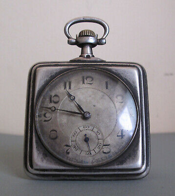 Very rare Vintage Omega solid silver square Pocket Watch