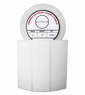 1 Roll1375 Labels Of 3x1 3 X 1 Direct Thermal Zebra Eltron Labels