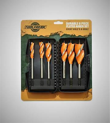 Auger Wood Drill Bit Set 6 piece from Toolfreak with FREE BONUS GIFT and P+P