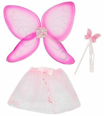 rosa pink Kostüm Flügel Schmetterling Kinder Schmetterlingsset - Schmetterling Flügel Kostüme Kinder