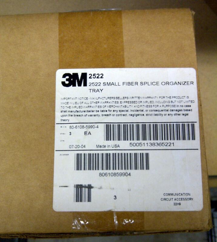 3M Fiber Splice Organizer Tray, Small, 2522, 3/case