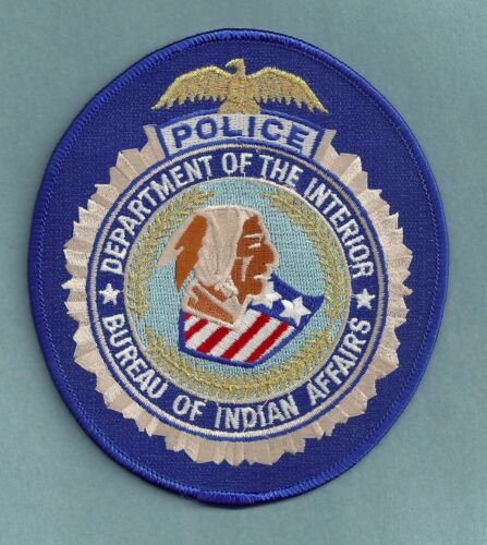 DEPARTMENT OF INTERIOR BIA BUREAU OF INDIAN AFFAIRS TRIBAL POLICE SHOULDER PATCH