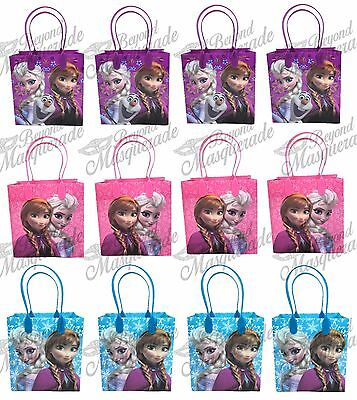 Frozen Bags Disney (Disney Frozen Anna Elsa & Olaf Party Favor Supplies Goody Loot Gift Bags)