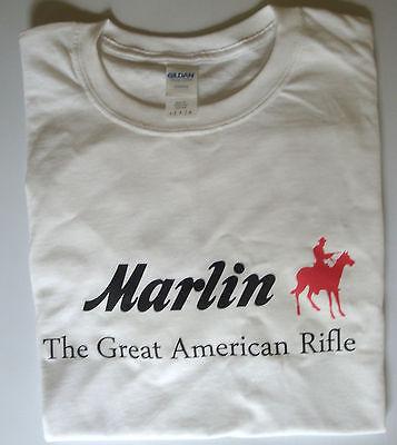 T-shirt Marlin Rifles firearms size XL 100% cotton white top quality
