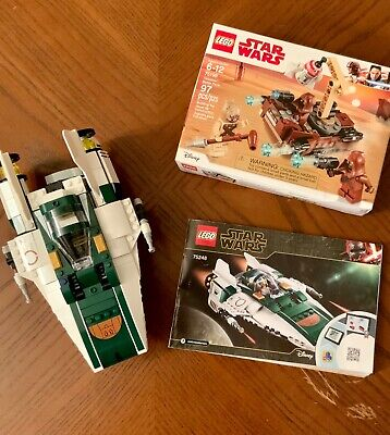 LEGO 75248 AND 75198 Resistance A-wing Starfighter and Tattooine Battle pack NIB