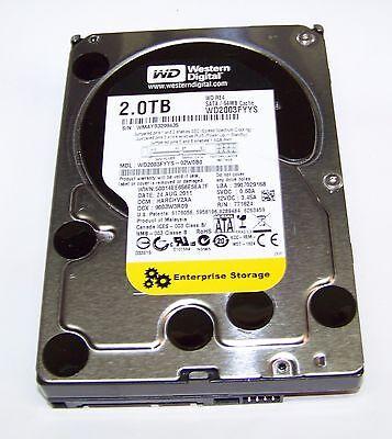 "Western Digital RE4 (WD2003FYYS) SATA 2TB Internal 7200RPM 3.5"" Hard Drive"