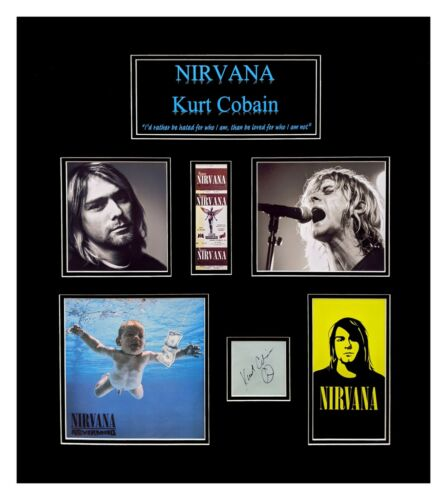 Kurt Cobain Original Autograph Matted and Framed Ready to Hang