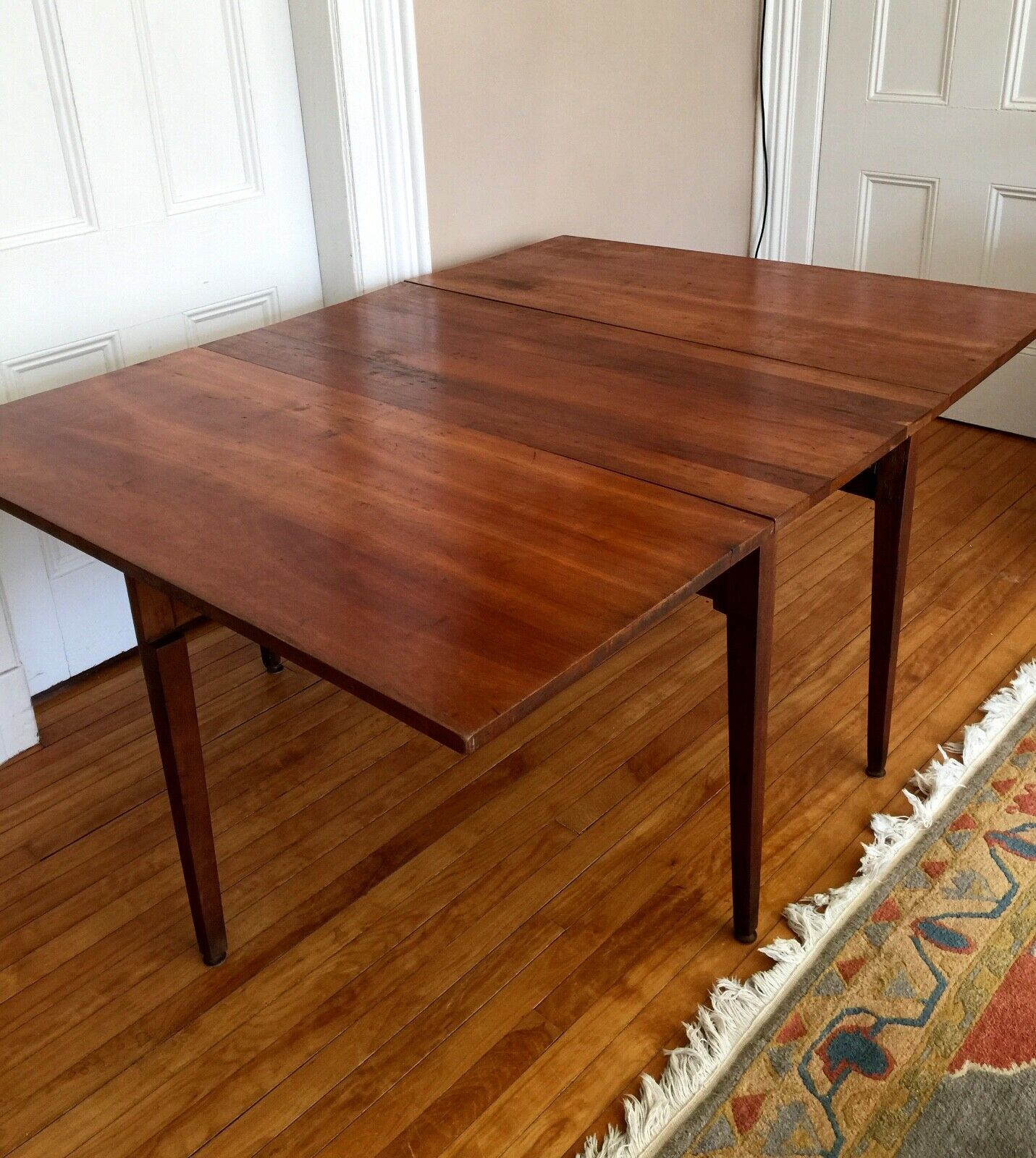 ANTIQUE Solid CHERRY DROP LEAF TABLE  - $449.99