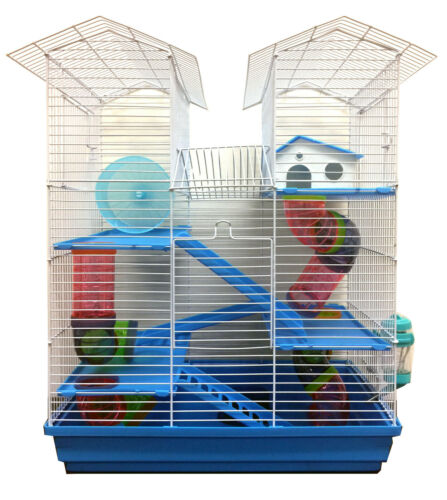 5-Levels Large Twin Tower Hamster Habitat Rodent Gerbil Mouse Mice Rats Cage 368
