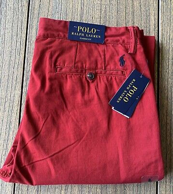 Polo Ralph Lauren Men's Classic Fit Red Chino Pants Sz 32x30 NWT