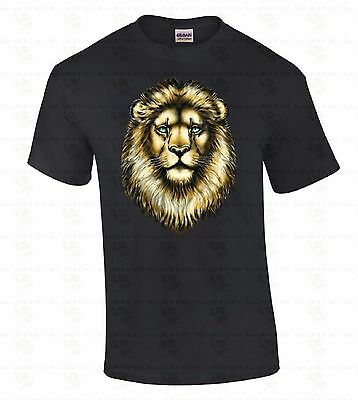 - Lion Face T-SHIRT Animal Lover Gift Pet Head Cool Funny Fashion Tee Shirt