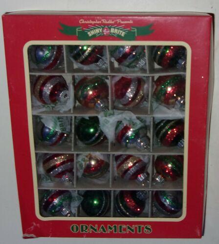 Christopher Radko Shiny Brite Box of 20 Christmas Tree Ornaments