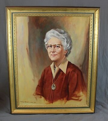 Masonic Oil Painting Portrait Leicestershire Gayton Cusley Taylors Wife Signed
