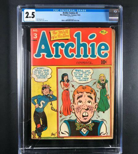 Archie #3 CGC 2.5 1943
