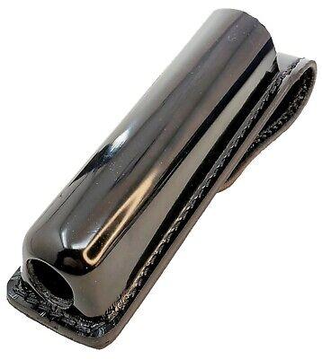 """Stallion F26-2 Black Basket Weave Leather Nickel 26/"""" Expandable Baton Holder"""
