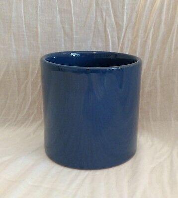 HTF Mamma Ro Italy Pottery Terra Cotta Small Blue Canister