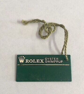 ROLEX Green Tag Hangtag Oyster Swimpruf T134671 1996 SUBMARINER GMT EXPLORER OEM